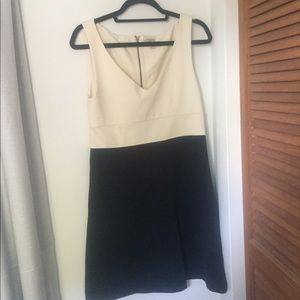 J crew for and flare dress Navy and white
